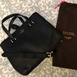 💕Kate Spade Black Satchel with Crossbody Strap 💕
